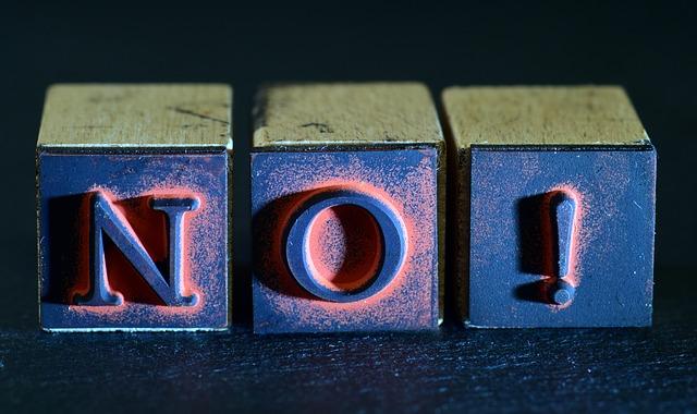 Je t'ai dit non!