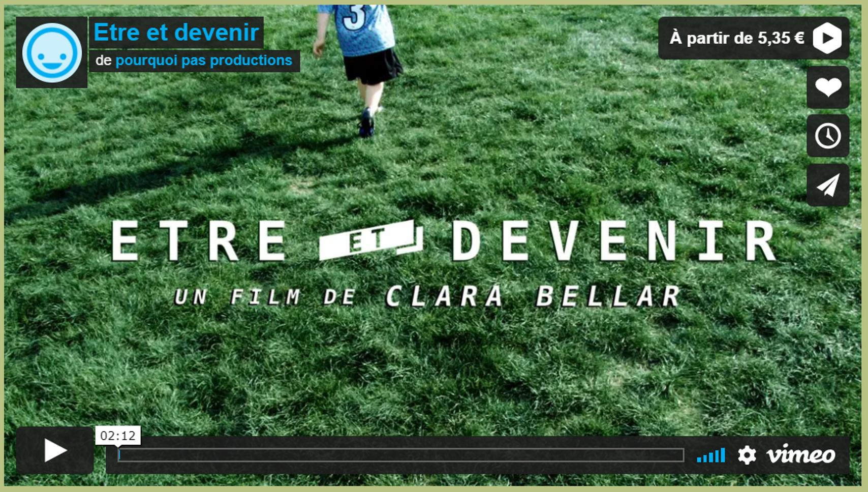 Etre et devenir : un documentaire fascinant!